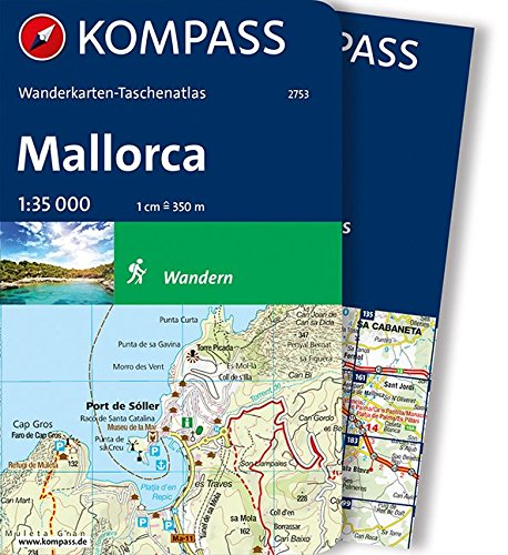 Mallorca: Wanderkarten-Taschenatlas (KOMPASS-Wanderkarten-Taschenatlas, Band 2753)