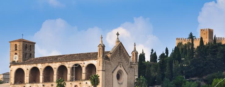 Wallfahrtskirche Santuari de Sant Salvador Arta in Arta