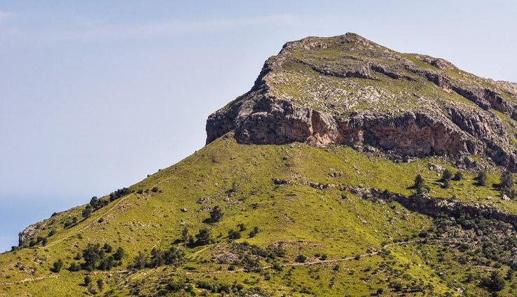 Felsmassiv im Westen Mallorcas