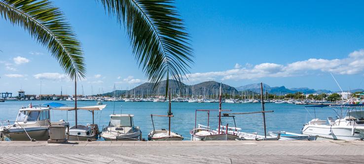 Der Hafen von Puerto de Alcudia