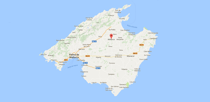 ᐅ Mallorca Karte Map Strande Regionen Der Insel Mallorca