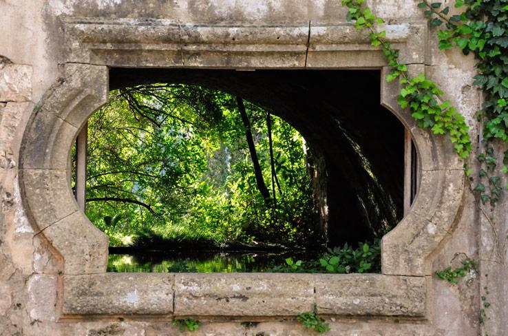 Quelle in den Jardines de Alfabia