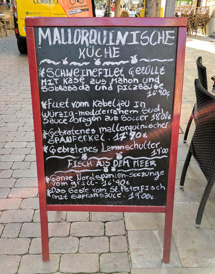 Gerichte der mallorquinischen Küche