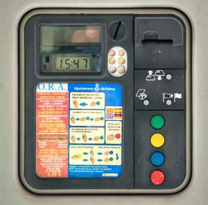 Parkscheinautomat auf Mallorca