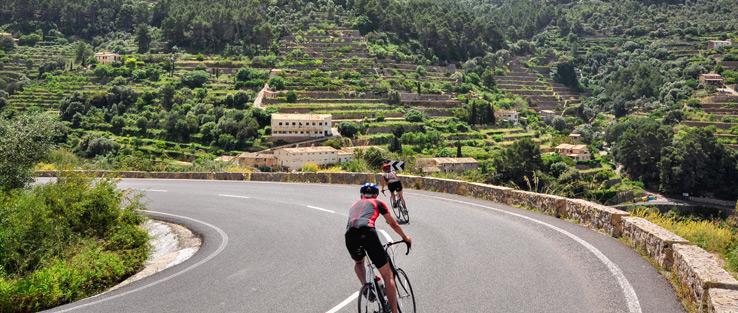 Rennradfahrer auf Mallorca