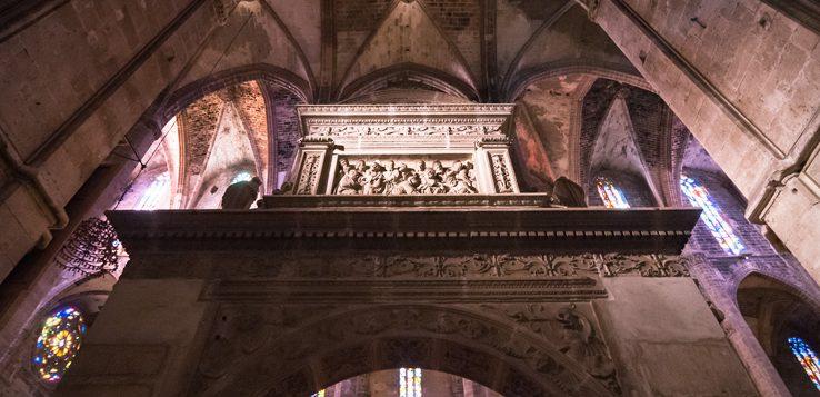 Säulentor in der Kathedrale La Seu
