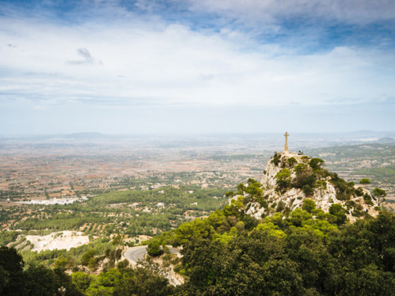 Blick vom Santuari de Sant Salvador