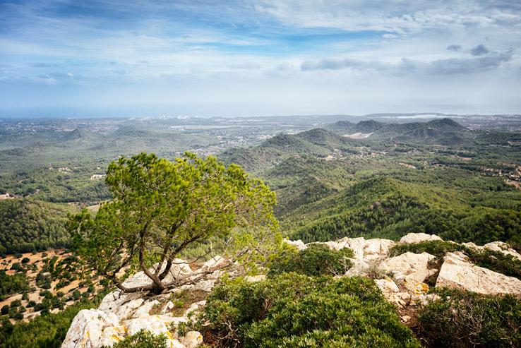 Aussicht vom Santuari de Sant Salvador