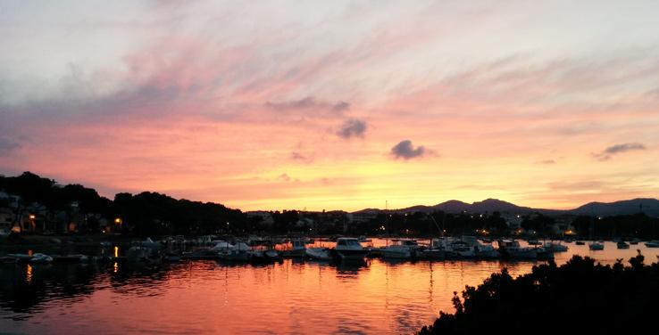 Sonnenuntergang bei Porto Colom