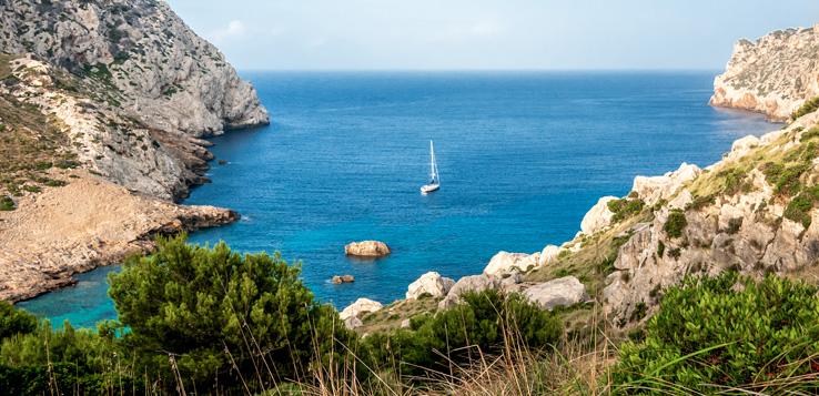 Bucht Cala Figuera am Cap Formentor