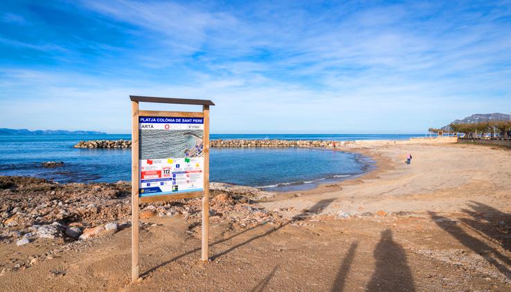 Strand von Colonia de Sant Pere