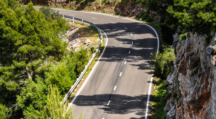 Straße in der Serra de Tramuntana