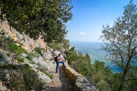 Wanderer auf Mallorca