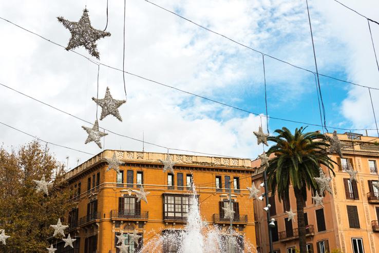 Weihnachtsdeko in Palma