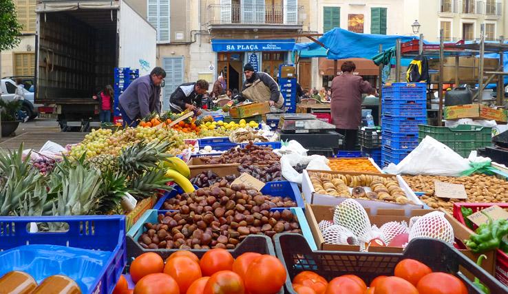 Obst auf dem Wochenmarkt